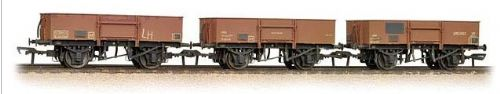 Bachmann Branchline 38-340 Weathered Tripple Pack 13T High Sided Steel Open Wagons BR Bauxite